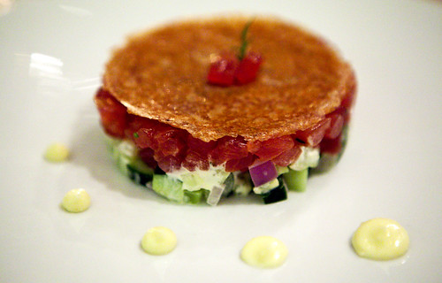 Upside Down Tuna Tartare