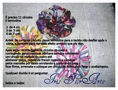 Pap da Rosa. (Iris Florarte) Tags: handmade flor artesanato rosa fuxico pap feitoamão passoapassodarosaemtecido