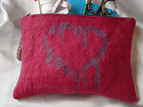 Hand-Dyed Burlap Bag 2