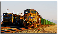 At Picacho Yard (Saqib Karori - TucsonRailfan) Tags: sunset arizona green up yellow yard tucson unionpacific picacho interstate10 sunsetroute saqibkarori