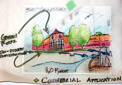 green infrastructure, conceptual illustration (by: Ball State students, courtesy AIA)