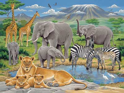 ravensburger animals in africa