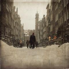 (~Liliana) Tags: winter snow texture canon poland polska danzig gdask mariacka 40d texturesquared