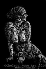 Discovering Self (lucidRose) Tags: woman art oregon painting nude portland spiral spirit goddess surreal bodypainting bodyart chelsearose truthartspace