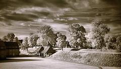 Tranquil Afternoon (josef.stuefer) Tags: autumn tree copenhagen landscape ir denmark infrared kbenhavn kastellet josefstuefer