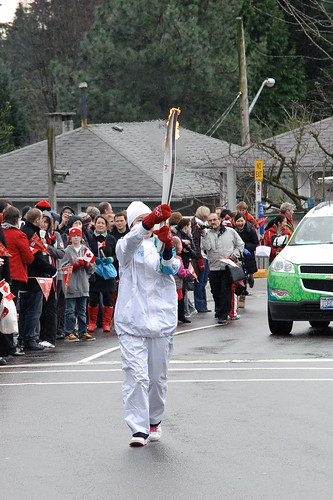 Olympic Torch in Lynn Valley, North Vancouver B.C. Feb 10 2010 -12