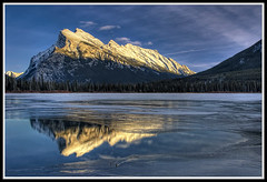 Mnt. Rundle sunset (bright_side) Tags: banff vermilionlake rundlemountain