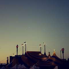 """""""Keep the circus going inside you, keep it going, don't take anything too seriously, it'll all work out in the end."""" (that edit girl) Tags: ca sunset dusk sanjose negativespace squarecrop cirquedesoleil totw explore59 circustents"""
