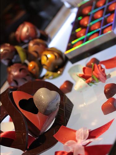 Valentine chocolate art