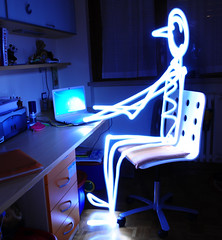 posting on flickr (at the speed of light) (Giannux) Tags: lighting longexposure nightphotography light night dark photography nikon funny paint shot creative images led torch getty luce gettyimages d300 disegnare bollate torcia lungaesposizione