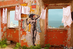 Lisboa (. ilda) Tags: street art portugal up collage painting drawing lisboa lisbon paste installation rua ephemeral alfama lisbonne zilda phmre fallet ilda