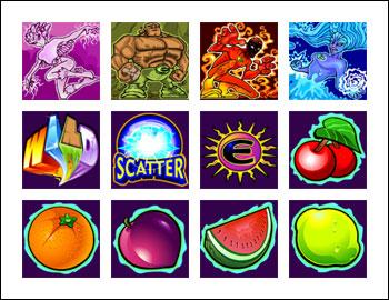 free Elementals slot game symbols
