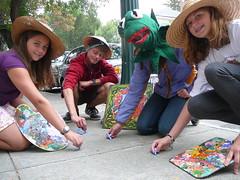 para la Tierra beauty for the bellbirds sidewalk chalk extravaganza artists with palettes