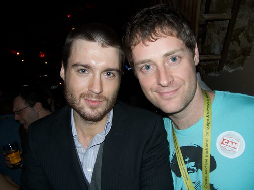 Pete Cashmore of Mashable and Ryan Holmes of HootSuite at SXSW - photo by John Biehler