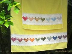 ♥ seminole coração ♥ (Carla Cordeiro) Tags: toalha seminole patchwork jogo ♥ colorido barrado toalhadebanho linhaeagulha agulhaelinha seminolecoração barradoemtoalha