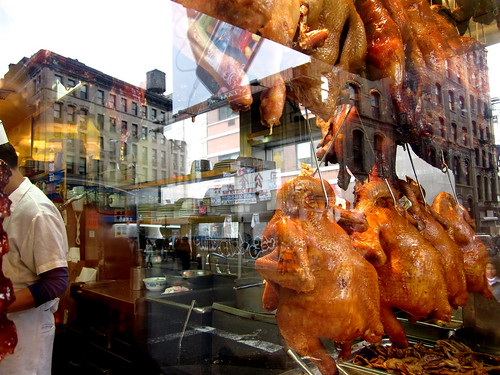duck roasting in Chinatown