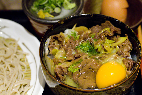 beef bowl with egg