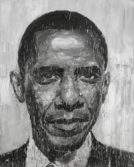 Yan Pei-Ming - Obama