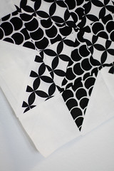 Black & White (Jeni Baker) Tags: white black modern march apartment quilt handmade sewing quilting stitching block quilts tradition crafting 2010 strawflower modify