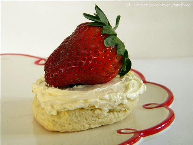 Classic Scones with Devonshire Cream & Strawberries
