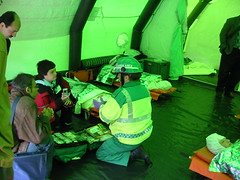 .. and this how we treat them ... (barronr) Tags: fire scotland edinburgh murrayfield tent ambulance demonstration conference emergency decontamination delegates parctice scottishambulanceservice worldcongressfordisasterandemergencymedicine lothainandbordersfireandrescue