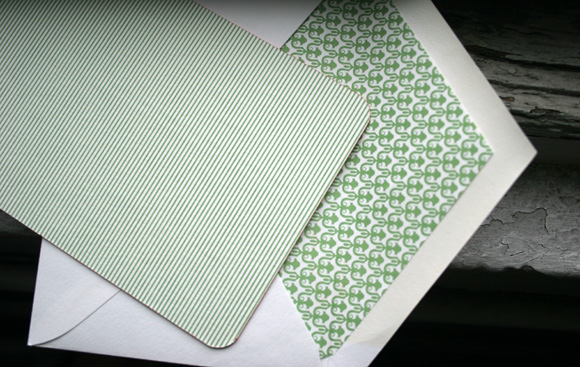 Patterned Backing and Patterned Envelope Liner by Smock