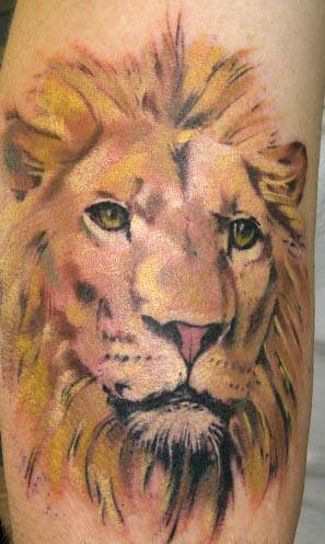 lion head tattoos. Lion Head Scott Santee Short