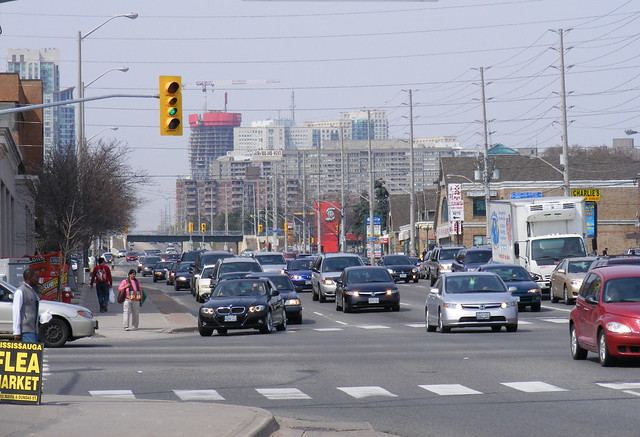 Mississauga traffic and highrises overwhelm old Cooksville