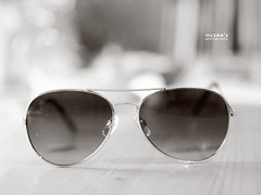096/365 ~ sun glasses (mc_zr) Tags: bw sunglasses 50mm blackwhite bokeh 365 project365 pilotshades pilotsunglasses olympuse410