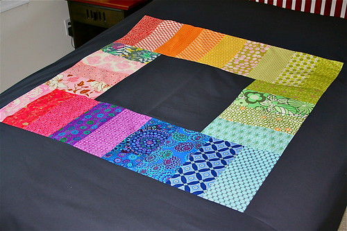 Paint box quilt backFinished!