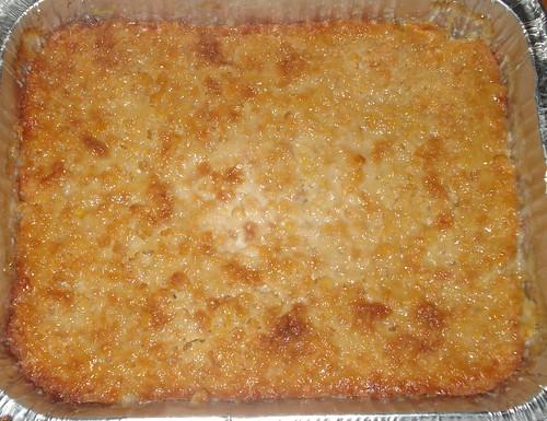 Aunty Maryella's decadent corn pudding, ready to enjoy!