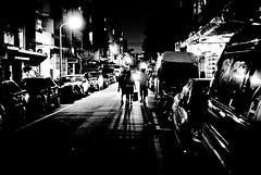 into the light (summerrunner) Tags: street city autumn shadow people bw silhouette night dark lights nikon flickr snapshot oct taiwan adobe taipei nikkor 2009 生活 lightroom d80