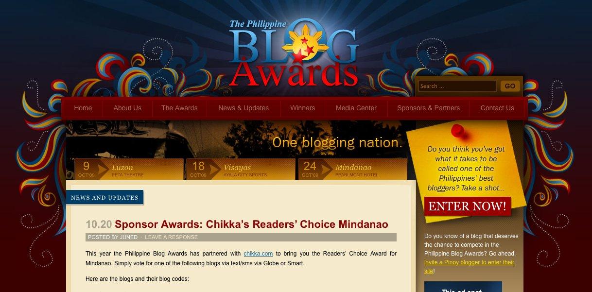 The Philippine Blog Awards Website