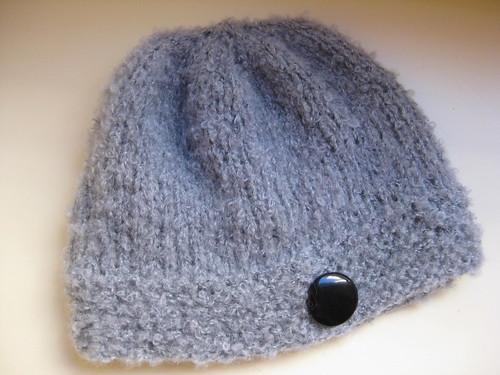 Grey boucle hat