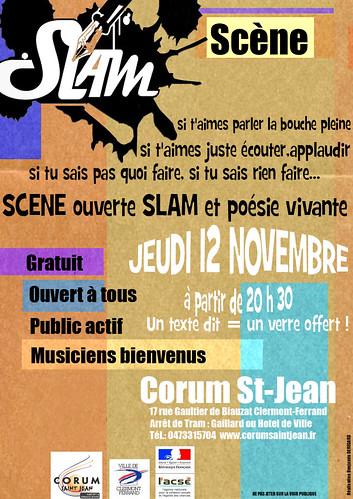 Scène slam du 12 novembre 2009 au Corum st Jean