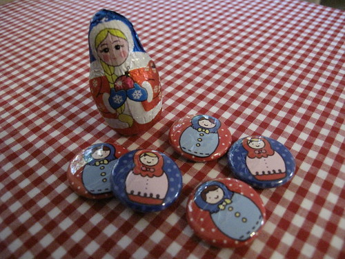 Russian Doll button designs that I made