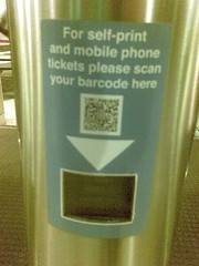 Ticket barriers at Newcastle Rail Station Phone Barcodes