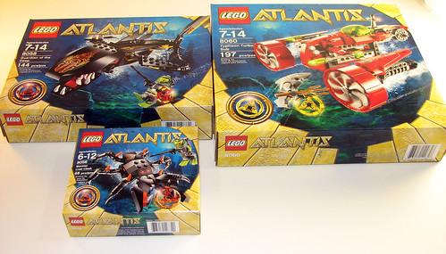 LEGO Atlantis - Boxes from 8056, 8058, 8060