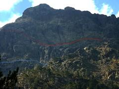 Partie Ucellu du versant de Sierra Pianella vue de la Grotte des Anges