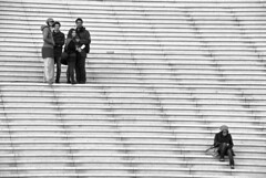 Not a part of the gang (Maron) Tags: paris france girl lines stairs gang ladefense supermarion marionnesje twphch twphch028 nofk