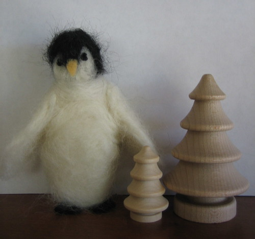 my  felted penguin