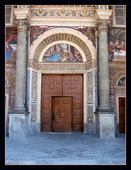 Portal ( Annieta  Off / On) Tags: city italy holiday color church nature june juni facade canon ilovenature this vacances vakantie is photo juin italia natuur powershot using chiesa piemonte stadt porta illegal portal s2is farbe colori without canonpowershots2is 2009 kerk couleur visualart stad permission allrightsreserved neoclassical aosta cathedrale citta deur kathedraal itali valledaosta valdaosta kleur aostavalley annieta portica abigfave bellitalia neoklassiek valledaosta arethesebuildings usingthisphotowithoutpermissionisillegal