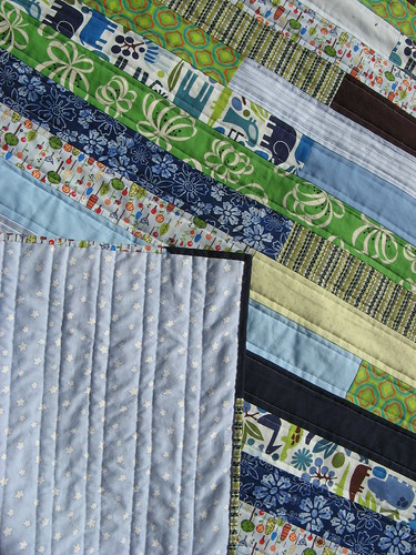 Playing with the Boys Quilt- Detail shot with Backing