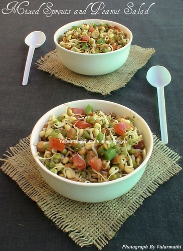 Mixed Sprouts and Peanut Salad
