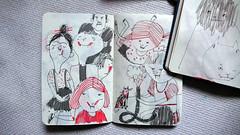 ...and children (Irina Troitskaya) Tags: moleskine cat sketch drawing sketchbook cahier