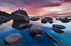 Bonsai Rock - Lake Tahoe, Nevada (Jim Patterson Photography) Tags: pictures longexposure blue trees sunset sky usa lake mountains color reflection beach nature water pine clouds forest landscape photography rocks colorful natural photos cove nevada tripod shoreline scenic tahoe rocky wideangle laketahoe boulders shore lee sierranevada gitzo freshwater reallyrightstuff sandharbor remoterelease nikkor1224mm graduatedneutraldensityfilter singhray mywinners bratanesque goldnblue nikond300 markinsm20ballhead bonsairock jimpattersonphotography carsoncitycounty jimpattersonphotographycom seatosummitworkshops seatosummitworkshopscom