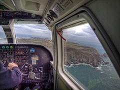 Long Final with a crosswind - Alderney (neilalderney123) Tags: window airplane geotagged island flying cockpit aeroplane alderney trislander geo:lat=49707775 geo:lon=2255004 gettyimag
