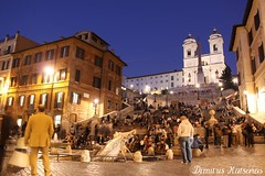 Italy Rome - Piazza di Spagna (by night)