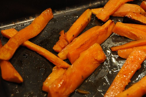 maple sweet potatoes - baking.jpg