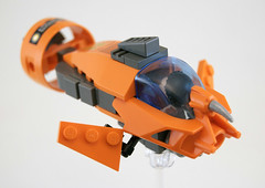 The Orange Submarine (Titolian) Tags: ocean sea water lego mask sub submarine explore propeller bionicle rotor phantoka